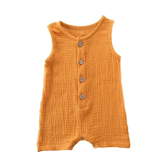 Crushed Cotton Onesie - Mustard