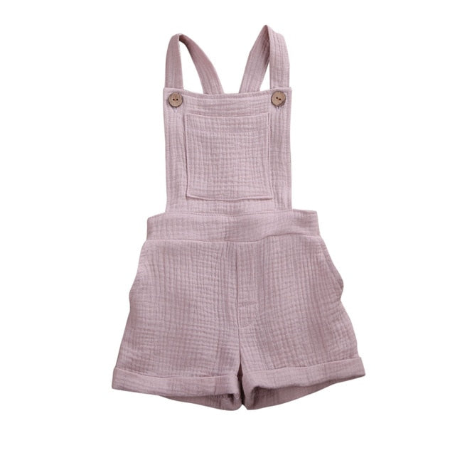 Crushed Overalls - Dusty Pink