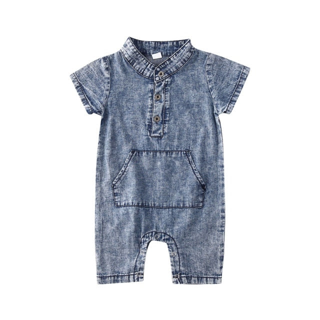 Spencer Onesie - Blue
