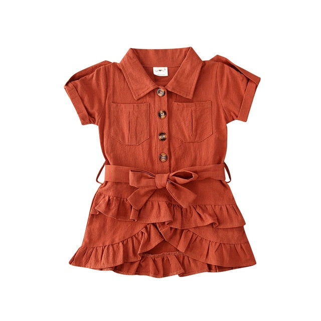 Jazmyn Dress - Rust Orange