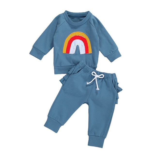 Rainbow Tracksuit - Blue