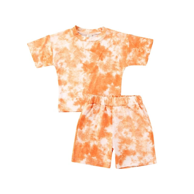 Tie Dye Short Set - Orange