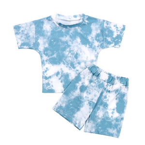 Tie Dye Short Set - Blue
