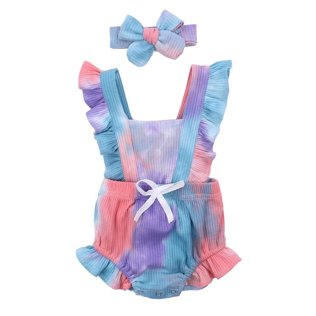 Tie Dye Romper - Multi Coloured
