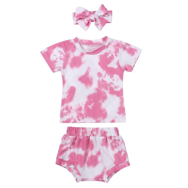 Tie Dye Bloomer Set - Pink