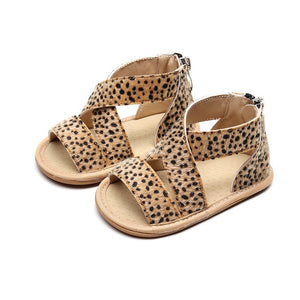 Ava Spotted Sandals - Brown