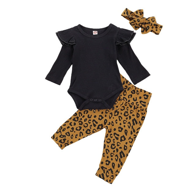 Shania Leopard Set - Black