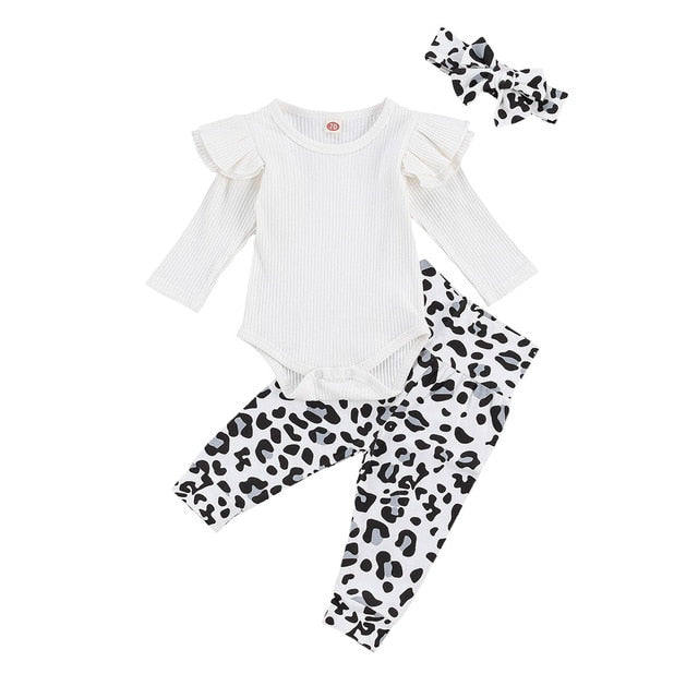 Shania Leopard Set - White