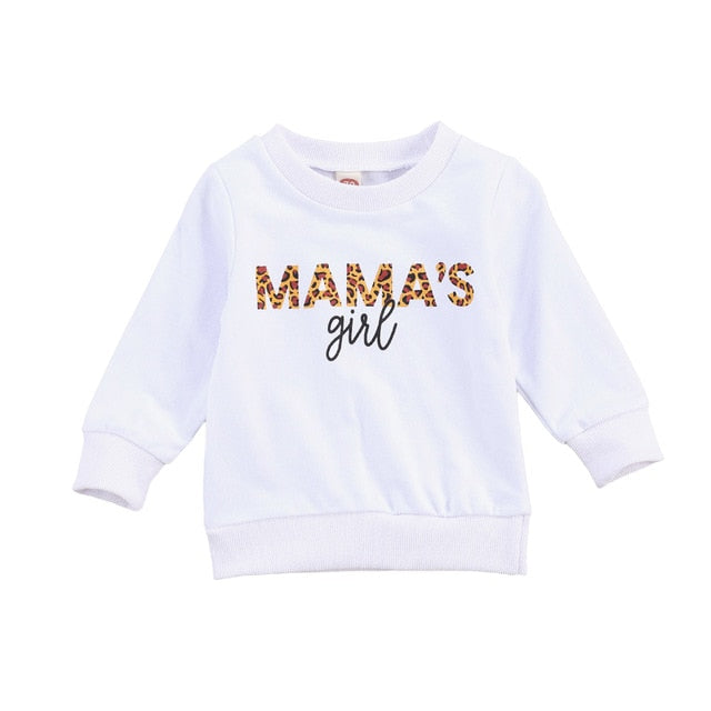 Mama's Girl Sweater - White