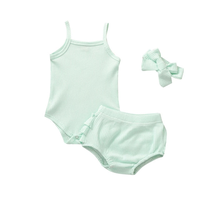 Maisey Ruffle Bum Set - Mint