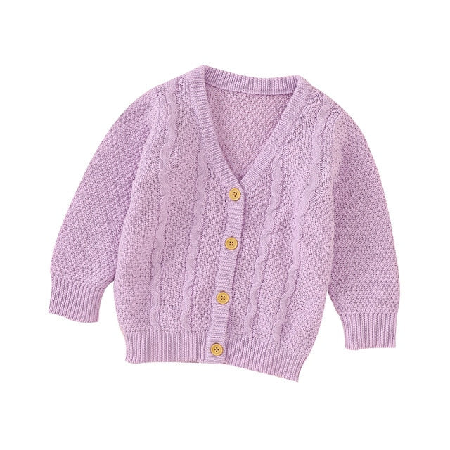 Knitted Cardigan - Purple