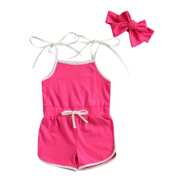 Leah Playsuit - Hot Pink