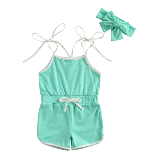 Leah Playsuit - Aqua