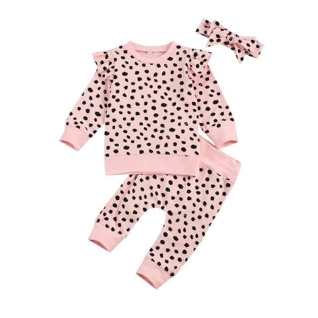 Spotted Flutter Set - Pink