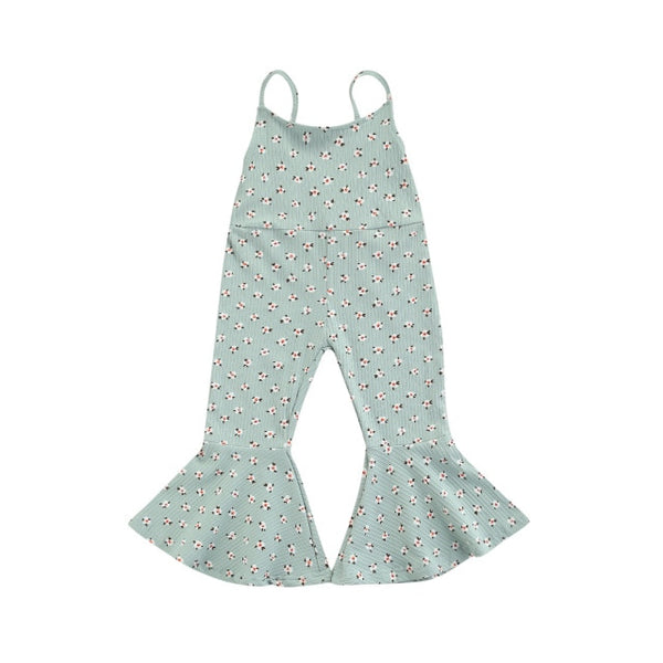 Misty Flare Jumpsuit - Green