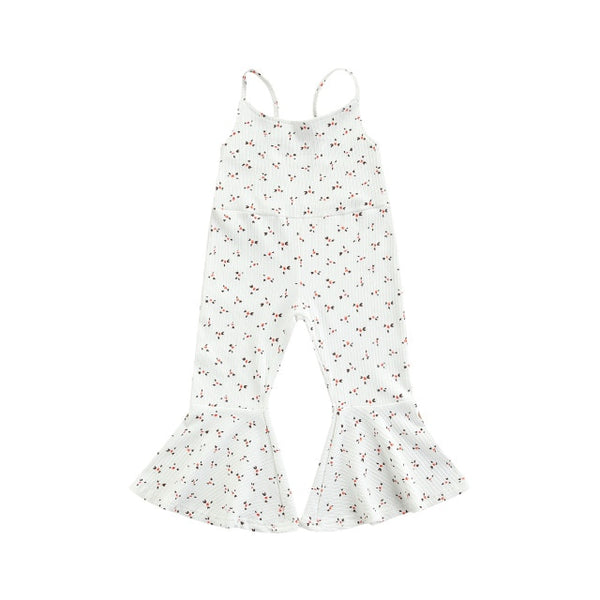 Misty Flare Jumpsuit - White