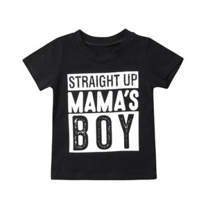 Straight Up Mama's Boy Tee