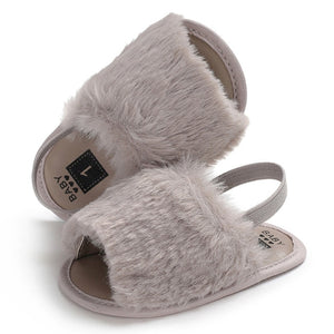Fluffy Slides - Grey