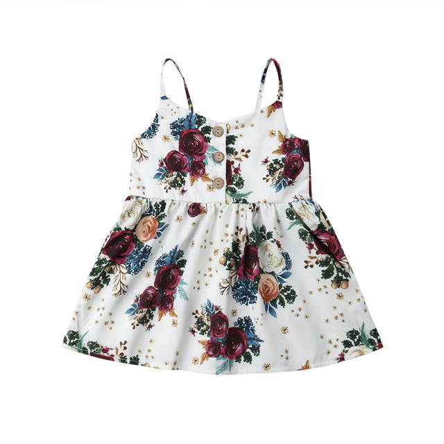 Cora Dress - Red Flowers