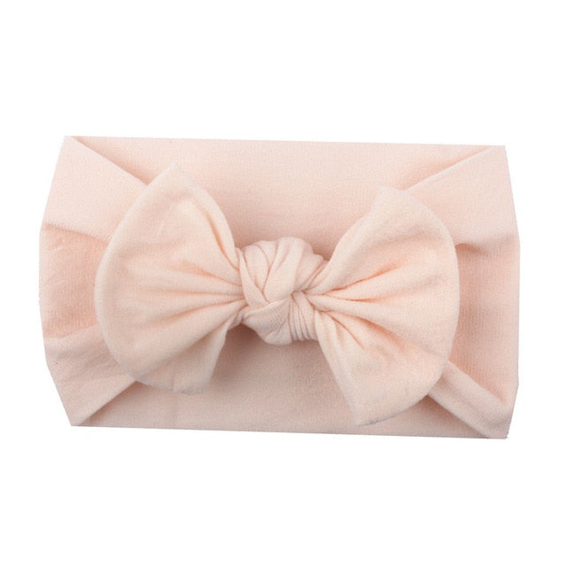 Bow Headband - Light Peach