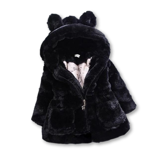 Deluxe Fluffy Coat - Black