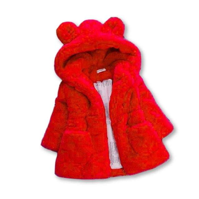 Deluxe Fluffy Coat - Red
