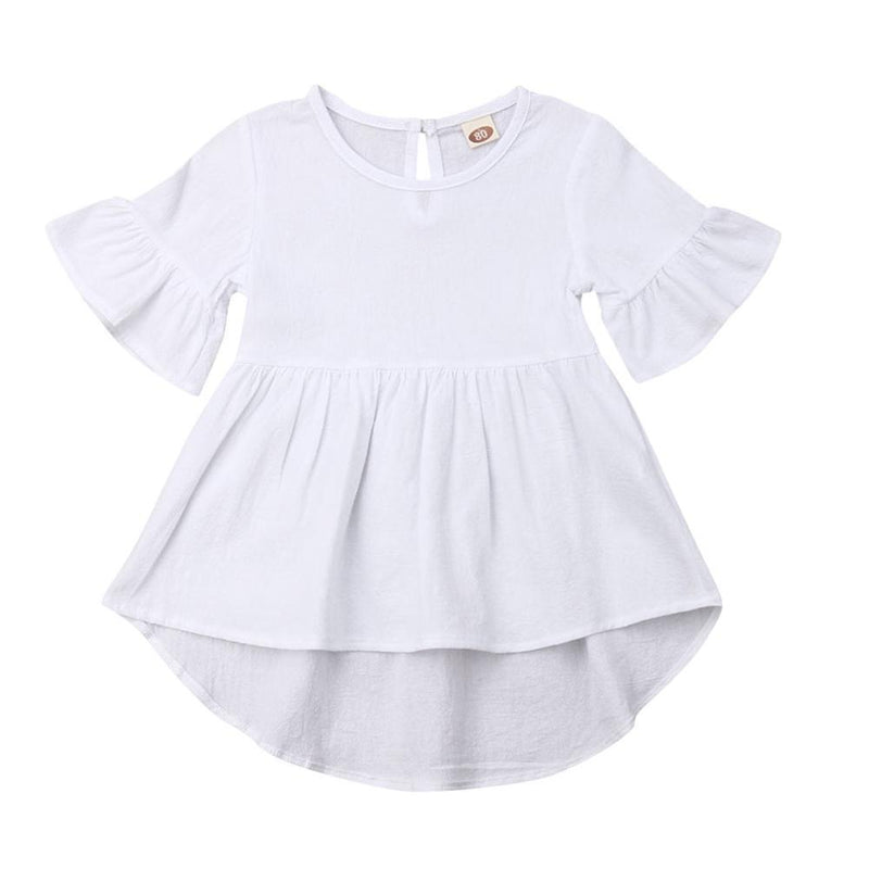 Evie Swing Dress - White
