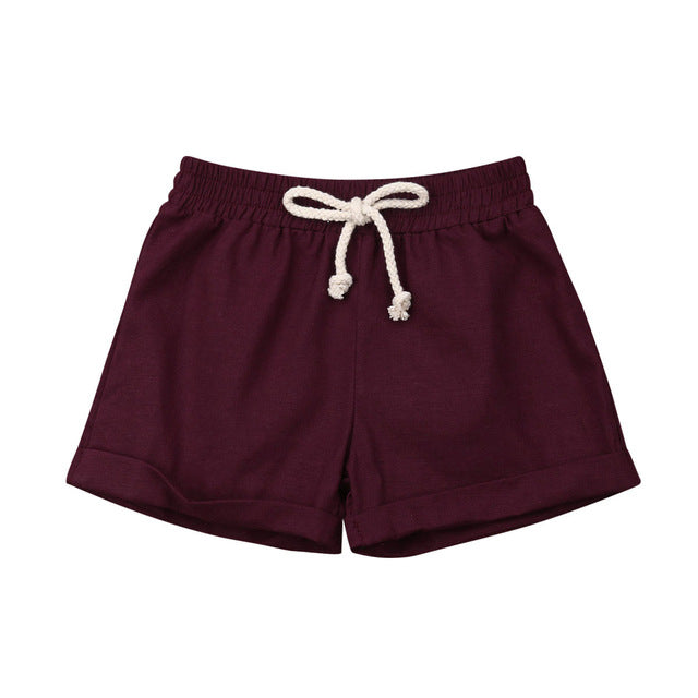 Basics Cotton Shorts - Maroon