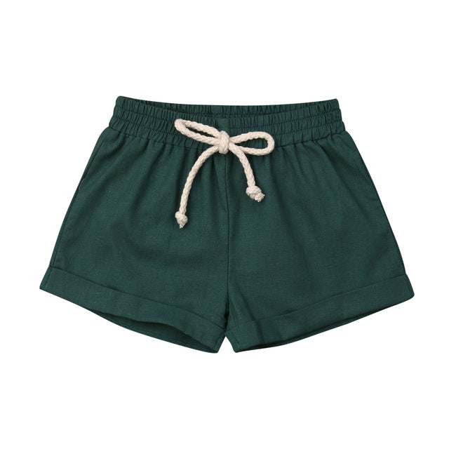 Basics Cotton Shorts - Green