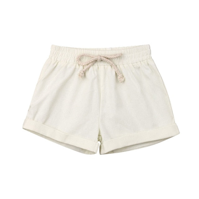 Basics Cotton Shorts - Ivory