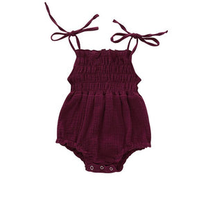 Catalina Romper - Burgundy