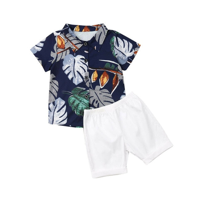 Dapper Hawaii Set - Navy