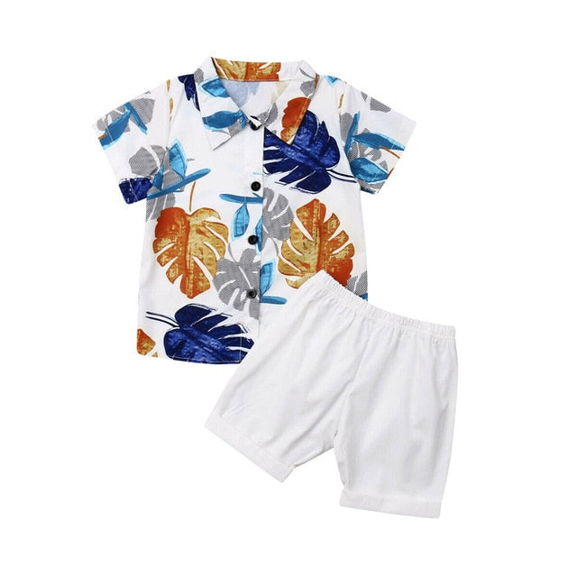 Dapper Hawaii Set - White