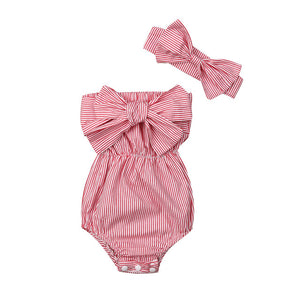 Maliyah Romper - Red Stripe