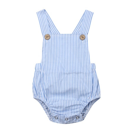Basics Romper - Blue Stripe