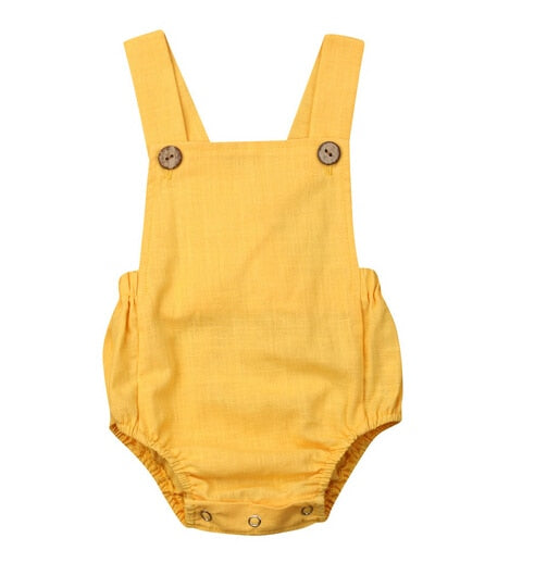 Basics Romper - Yellow