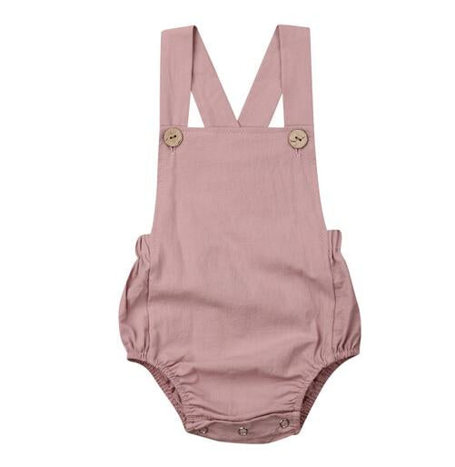 Basics Romper - Dusty Pink
