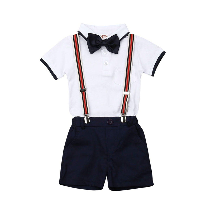 Shane Suspender Set - Navy