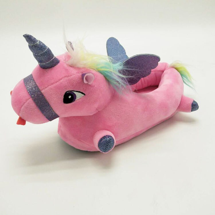 Pink Unicorn Slippers For Adults