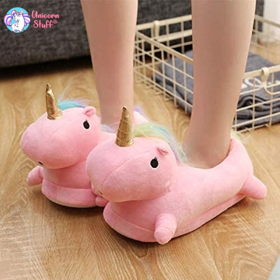 adult unicorn slippers