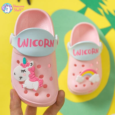 baby girl unicorn slippers