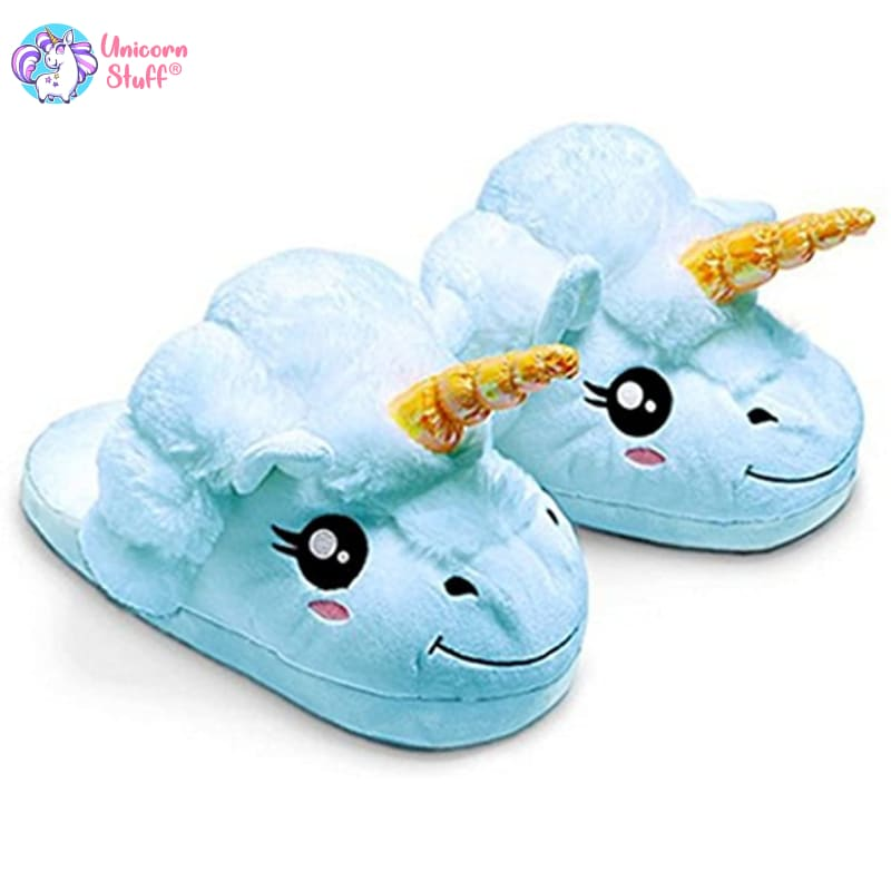 Blue Unicorn Slippers