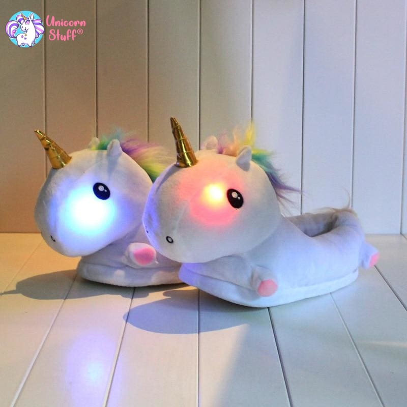 children's light up unicorn slippers