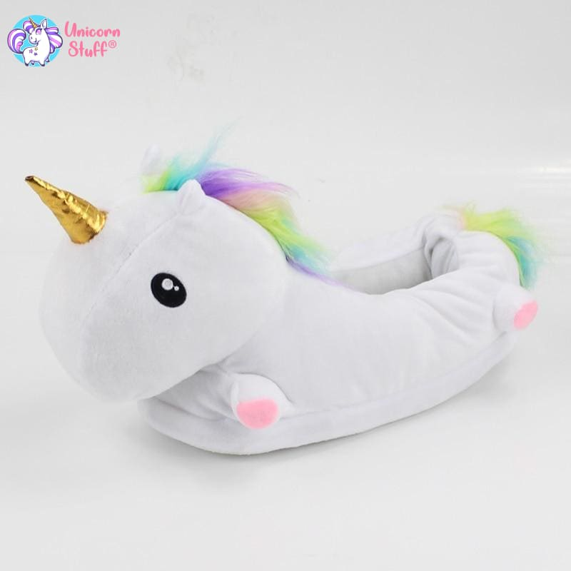 Childrens Rainbow Unicorn Slippers