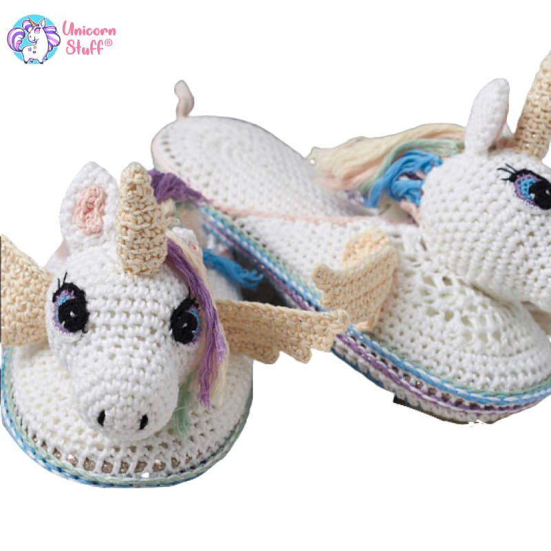 crochet unicorn slippers pattern