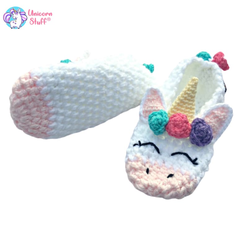 crochet unicorn slippers
