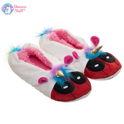 deadpool unicorn slippers