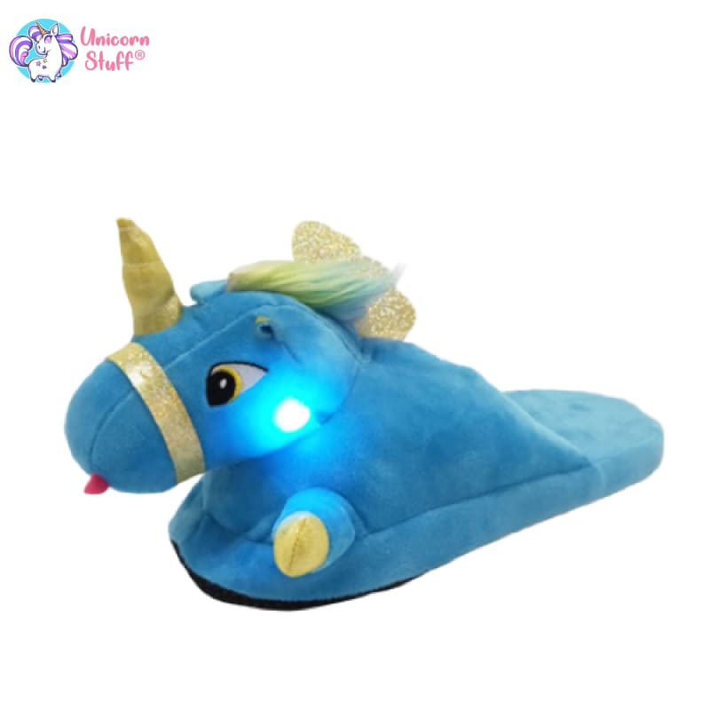 girls light up unicorn slippers
