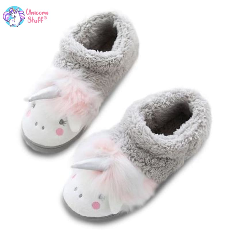 girls unicorn bootie slippers
