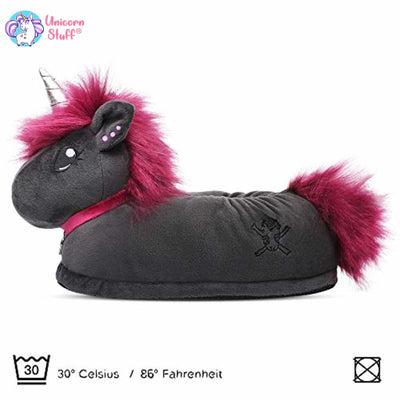 gothic unicorn slippers